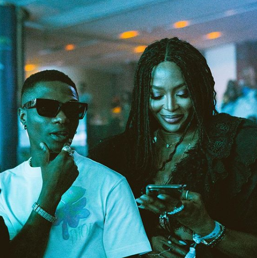 Wizkid and Naomi Campbell have become an item