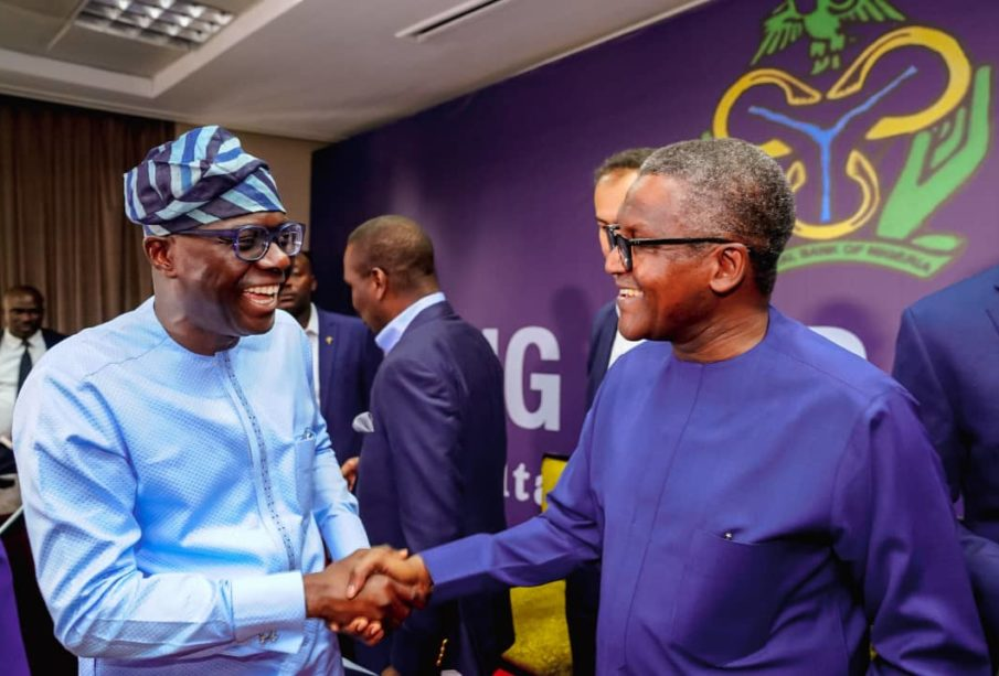 Dangote and Sanwo-olu