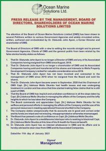 OceanMarine Solution press release