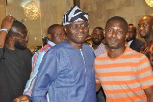 Olayemi Thomas with Gov Sanwoolu